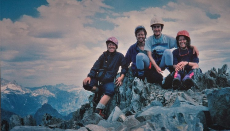 Kathy Phibbs (left) helped create a community of female climbers in the 1980s.
