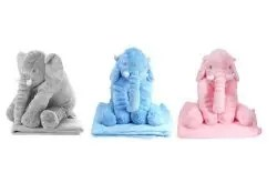 comfy soft baby elephant pillow with plush blanket r soft toys pricecheck sa