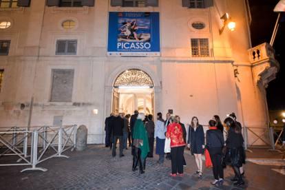 Roma, Paloma Picasso all'anteprima della mostra dedicata al padre