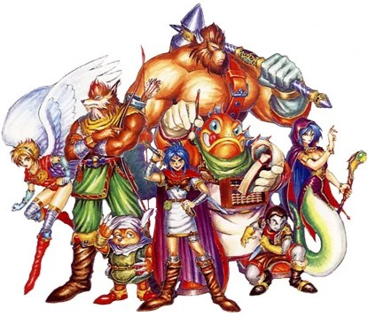Breath of Fire I cast of characters