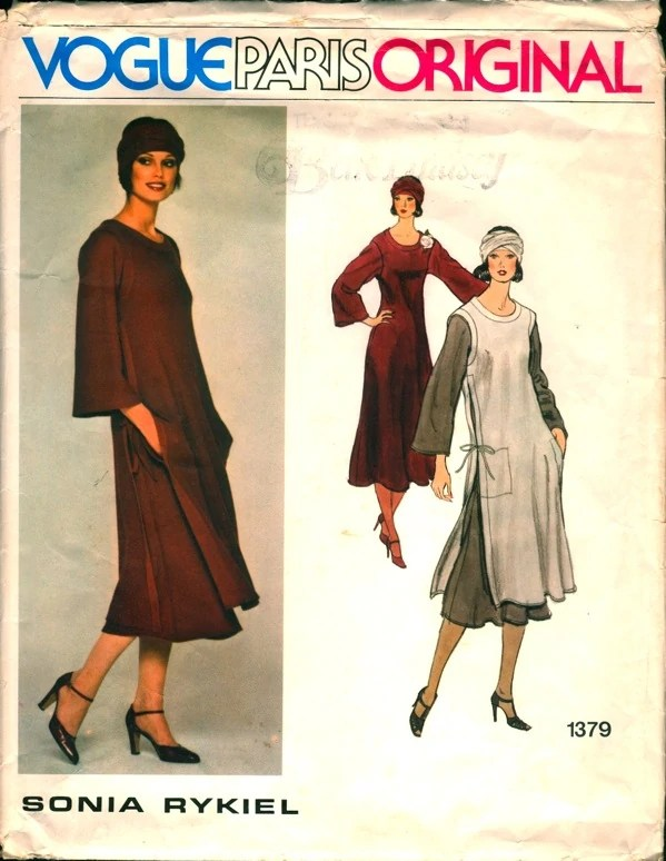 1970s Sonia Rykiel pattern, Vogue 1379