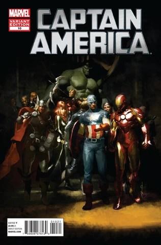 Cover di Captain America n. 10 ed. variant