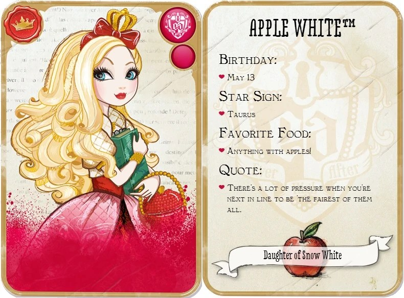 penny word cards ever after high