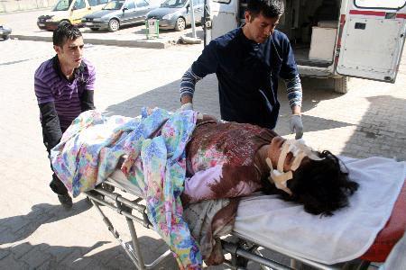 Female victim of the Taliban