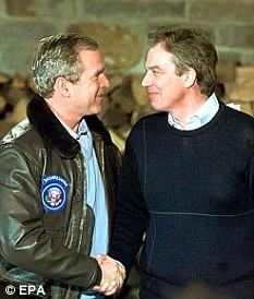 Tony Blair always had lavish welcomes from George Bush