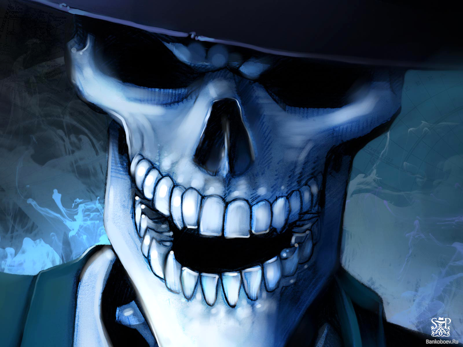 happy skeleton wallpaper and background | 1600x1200 | id:238519