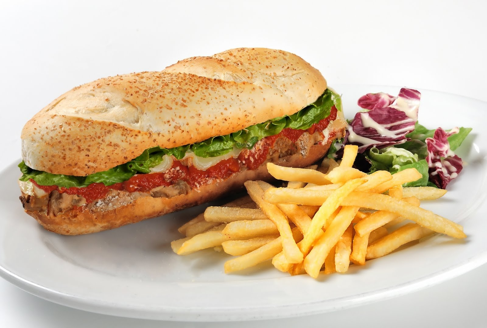Submarine Sandwich With Fries Called Chips In Australia