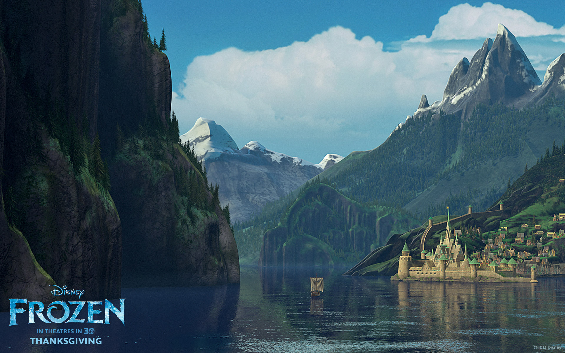 Frozen   Disney movie   the castle HD Wallpaper   Background Image     Wallpapers ID 719475