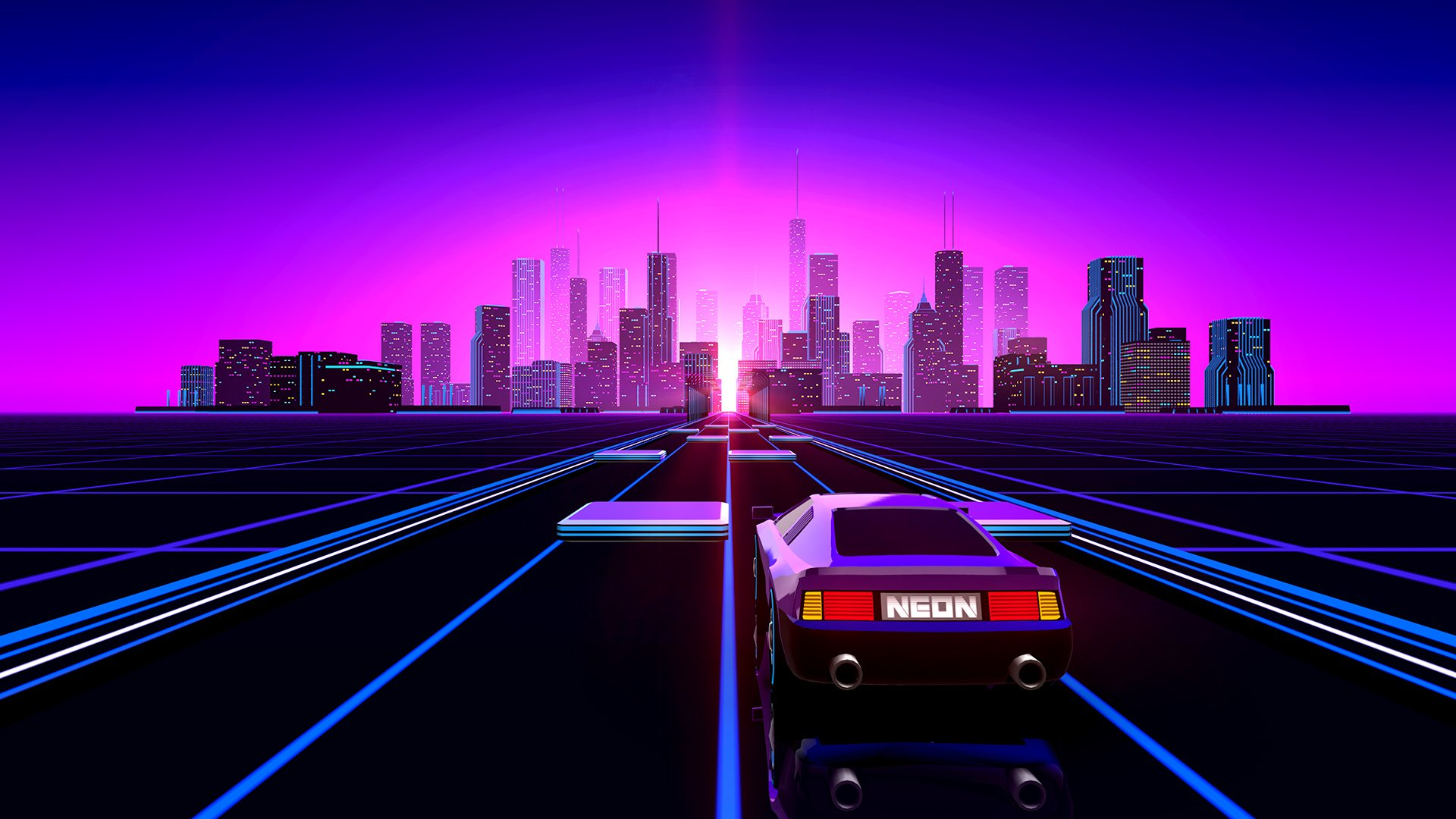 123 retro wave hd wallpapers