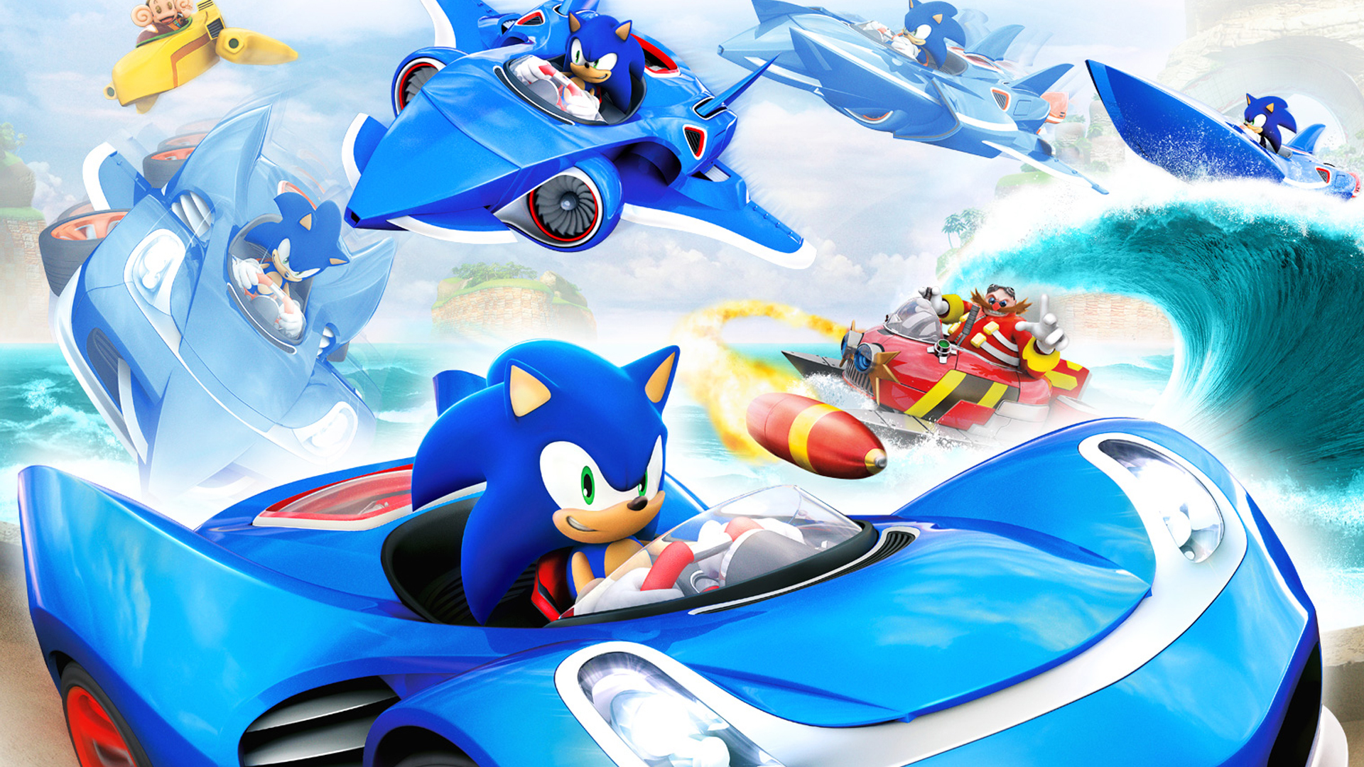 3 Sonic Amp All Stars Racing Transformed HD Wallpapers Background Images Wallpaper Abyss