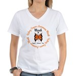 KidneyCancer Month Women's V-Neck T-Shirt