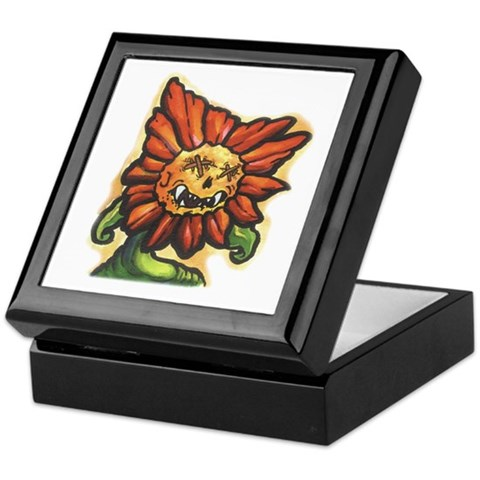 Sunflower Tattoo Keepsake Box