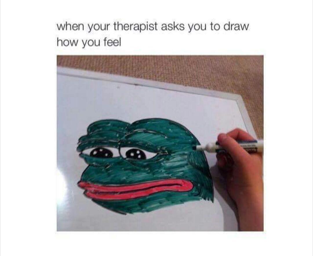 Sad Frog Pictures Log