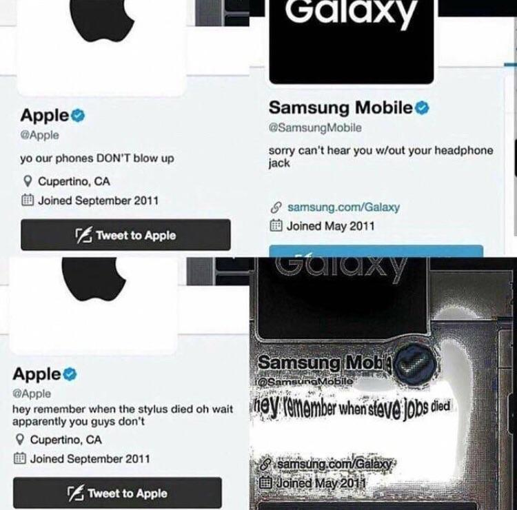 Samsung Vs Apple Know Your Meme