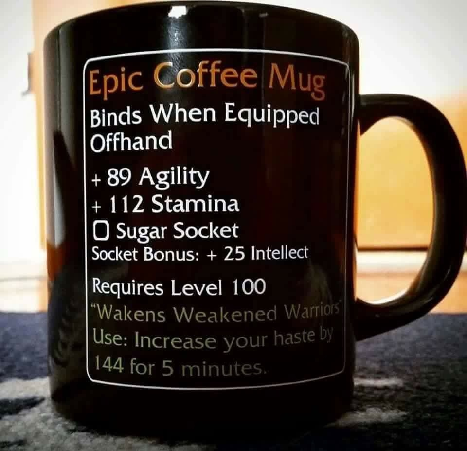 World Funny Memes Coffee Warcraft