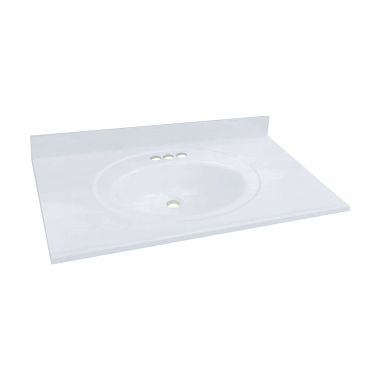 transolid 1409 7820 cultured marble 43 x 22 vanity top sink white