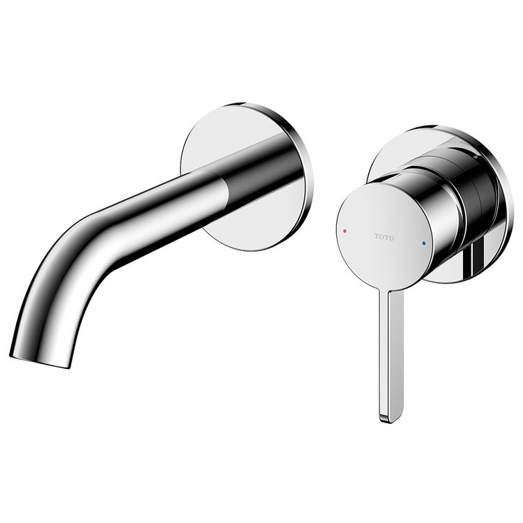 toto gf 1 2 gpm wall mount single handle bathroom faucet with comfort glide technology polished chrome tlg11307u cp