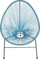 acapulco oval outdoor patio chair blue r outdoor pricecheck sa