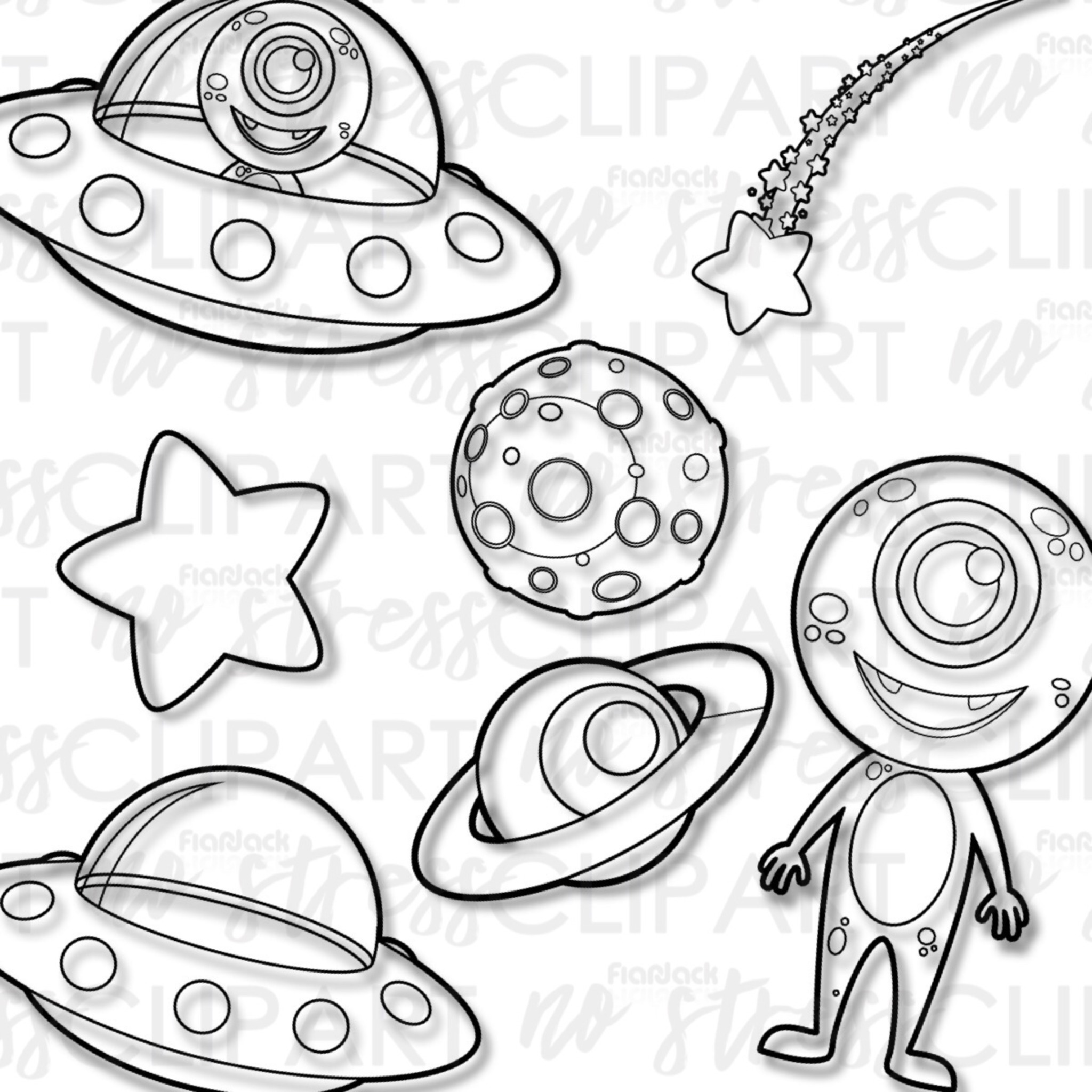 Outer Space Aliens Clip Art