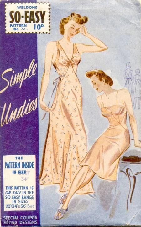 Weldons So-Easy 72 (c. 1942) Simple undies