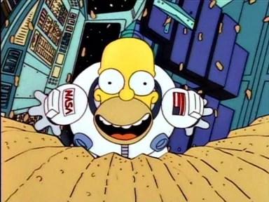 astronauta contento por la notícia