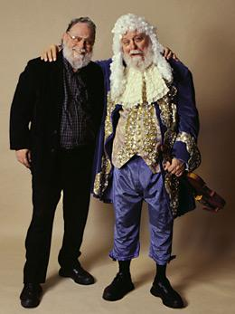 Peter Shickele, left, and P. D. Q. Bach, together, in happier times.