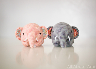 Adorable fat elephant pattern