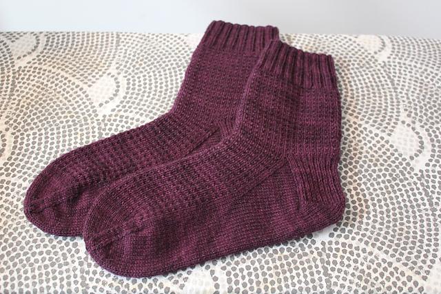 Plum Ringwood Socks