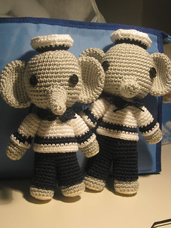 Crocheted elephant toys