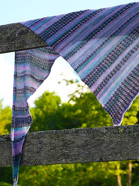 Cowry Shawl Knitting Pattern in Berroco Folio and Berroco Folio Color