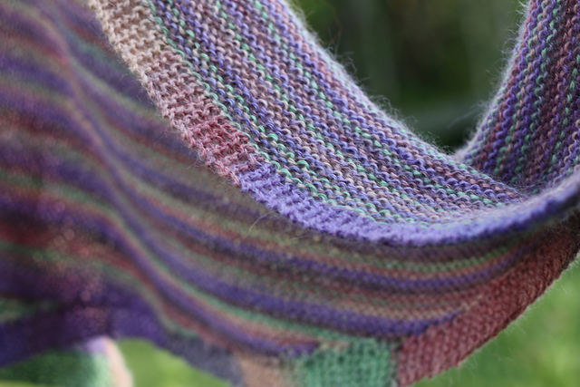 Coquina Shawl in Berroco Folio Color