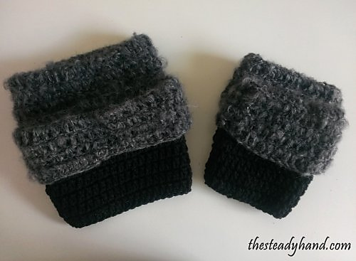 crochet fuzzy boot toppers