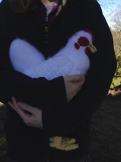 Hildegard The Life Sized Crochet Chicken Free Pattern Once
