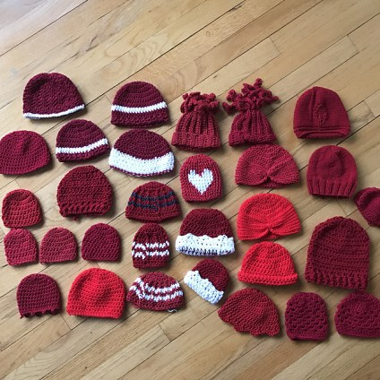 30 hats for the Little Hats, Big Hearts campaign