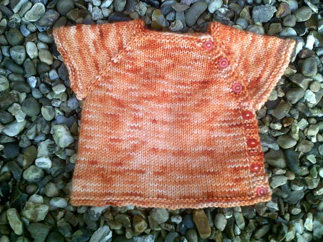 Puerperium Cardigan in Pumpkin Punch Woolly DK   www.gradianceyarns.co.uk