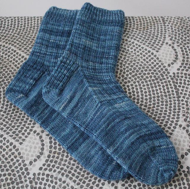 Denim Ribbed Socks