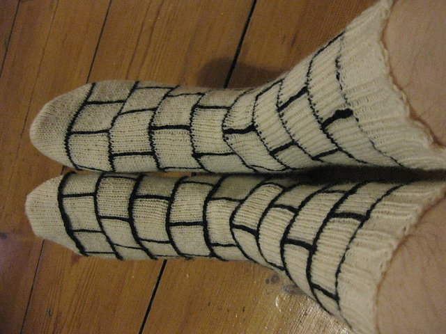 Comic book panel socks