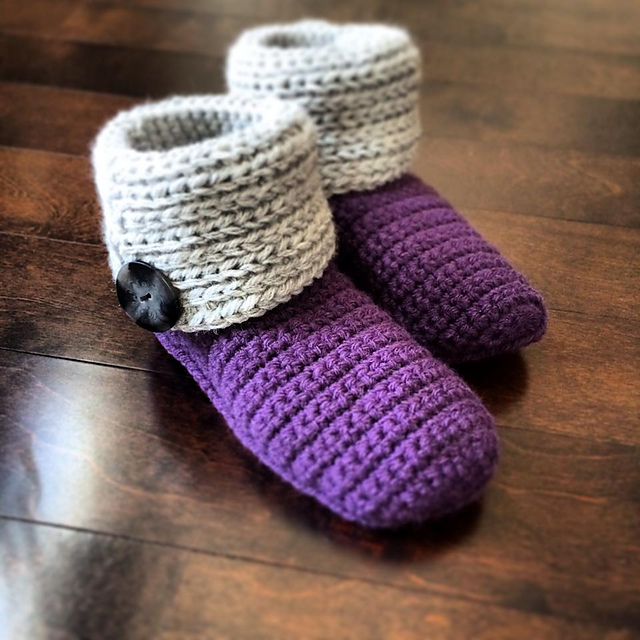 Knot Stitch Knit Simple : ?Knot Knit? Slipper Boots   A Crocheted Simplicity
