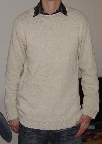 knitted men's sweater