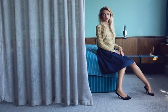 Vivi trøje fra Helga Isagers Room 606. Jeg er gået i gang med første ærme, og skal til at lave mønster.