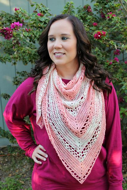 easy crochet stripe shawl pattern instant download crochet pattern Triangle scarf pattern women/'s scarf and winter wrap digital pattern