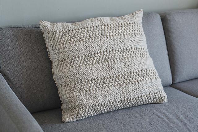 simple crochet pillow cover pattern by joy of motion crochet janne kleivset
