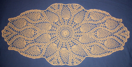 ravelry coffee table topper pattern by