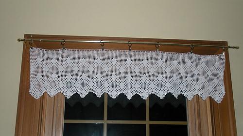 ravelry diamond motif valance pattern