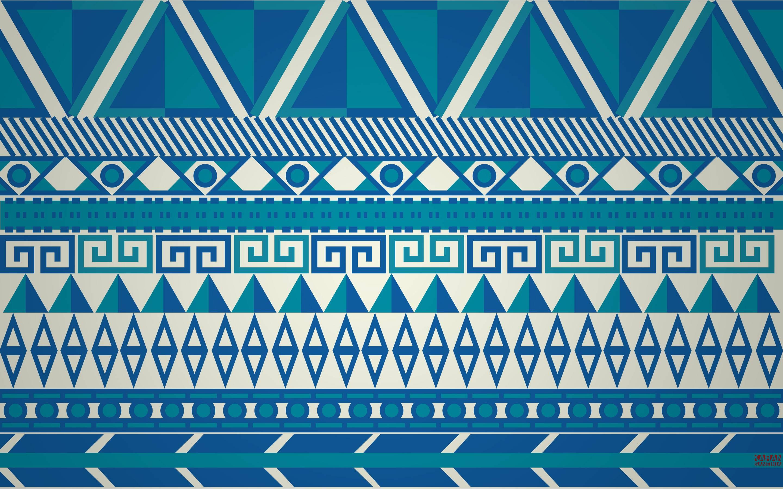 Blue Green Aztec Background