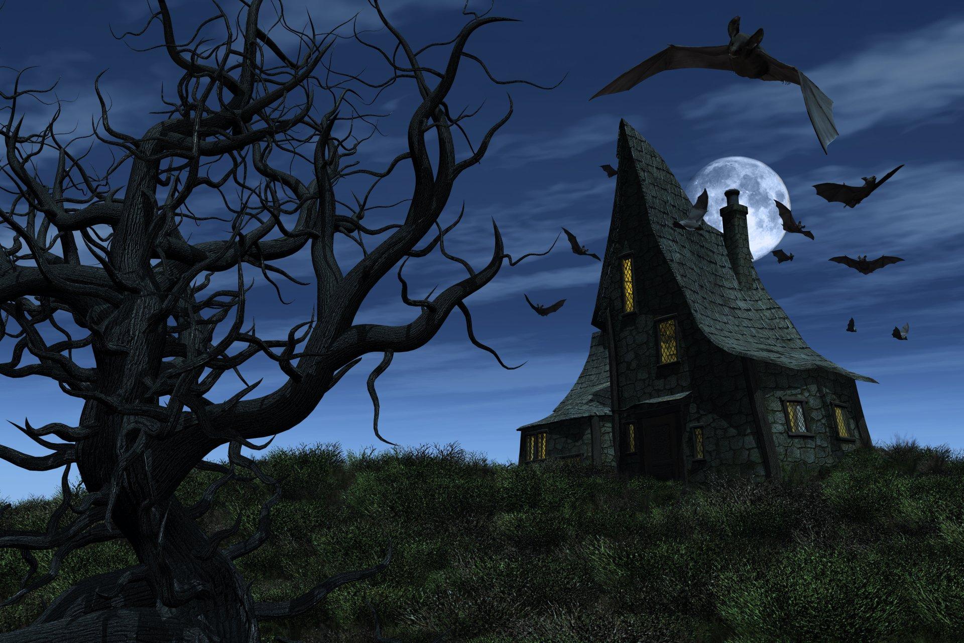 Halloween Haunted House 4k Ultra Hd Wallpaper