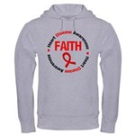 Heart Disease Faith Hooded Sweatshirt