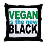 Vegan is the New Black Throw Pillow