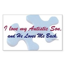 He Loves Me Back (Autism) Decal