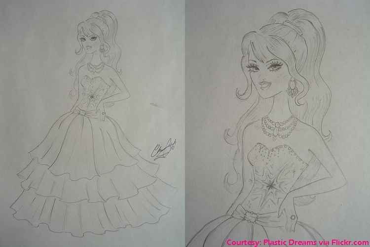 barbie movies a fashion fairytale original drawing for barbie s